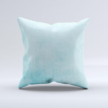 Vintage Blue Textured Surface Ink-Fuzed Decorative Throw Pillow