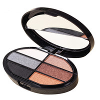6 Color Sweatproof Makeup Women Natural Warm Eyeshadow+ Blush Palette Set with Brush  best Gift + Free Shipping
