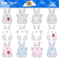 Easter Bunnies Clipart. Easter Bunny Clip Art for Instant Download. Easter Bunny Clip Art. Easter  Clipart. Easter Clipart. Easter Graphics