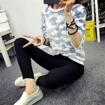 winter female panda print multi-pattern knitted pullover high-quality soft coral fleece knitted pullover Sweatshirt