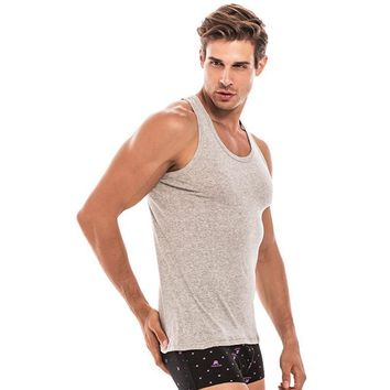 100% CottonTank Top Men Bodybuilding Clothing  Mens Sleeveless Shirt Casual Undershirt  Vests Singlets Muscle Tops