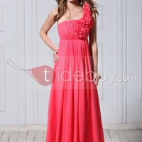 Chic A-Line One-Shoulder Floor-Length Veronika's Evening/Prom Dress [US2]