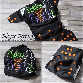 Shake Your Booty Halloween Ghost OS Pocket  Diaper or Diaper Cover
