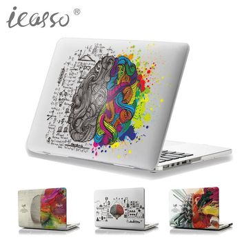 iCasso 2017 New Left and Right Brain Image Glossy Clear Crystal Snap-On Hard Cover Case for Apple MacBook Pro air  series laptop