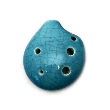 Seedpod Ocarina Soprano C Jade Crackle