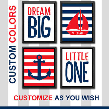 baby nursery decor nautical playroom decor dream big nursery quote sailor nursery art nautical kids room decor custom boy nursery art anchor