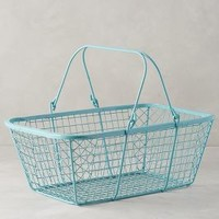 Fitler Market Basket by Anthropologie Sky One Size Office