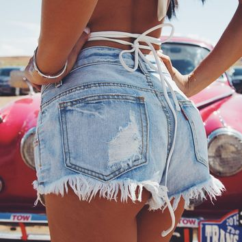 Summer Trend Tassel Denim shorts