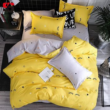 Sookie Eyelash Bedding Set Childish Elephant Bear Printing king queen size Linens Duvet Covers Pillowcases Brief Bed Covers
