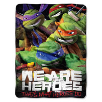 TMNT We Are Heroes  Micro Raschel Blanket (46in x 60in)