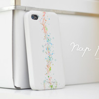 apple iphone case : white bokeh