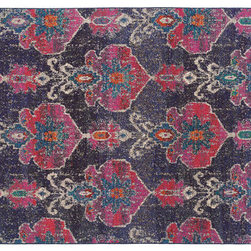 Blanca Rug, Charcoal/Pink, Area Rugs