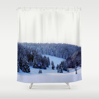 Winter Winter #society6 Shower Curtain by 83oranges.com