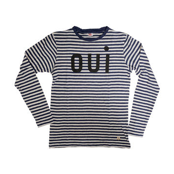Oui Longsleeve T-shirt - Navy & Creme Stripes