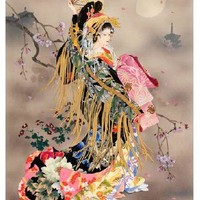 Embroidery Cross Stitch Kits Needlework The Japanese Kimono Ladies Crafts 14CT Counted Unprinted SetsDMC DIY Arts Handmade Decor