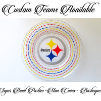 Pittsburgh Steelers NFL Dinner Plate Football Logos Custom Teams Dinnerware Gift