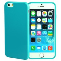 iPhone 6S Case, technext020 Apple iPhone 6S silicone Ocean Blue Cover, Ultra Slim Gloss Gel Bumper iPhone 6 Case TPU bumper