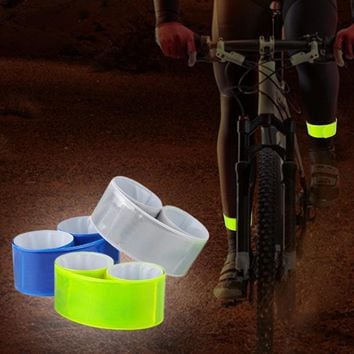 Hot 1PC Running Fishing Cycling Reflective Strips Warning Bike Safety Bicycle Bind Pants Leg Strap Reflective Tape