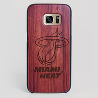 Miami Heat Galaxy S7 Edge Case - All Wood Everything