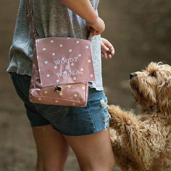 Dog Walking Bag - Crossbody Bag - Poop Bag Holder - Personalized Pet GiftPersonalized Pet