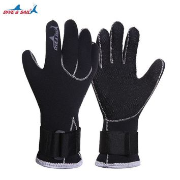 Dive&sail 3mm neoprene diving gloves with Magic buckle belt for scuba diving,,Snorkeling fishing Water Sport Gloves