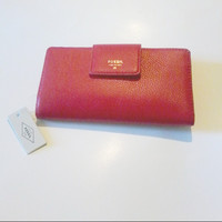 Fossil red wallet