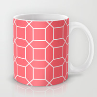 Octagon Coin Coral Mug by Beautiful Homes