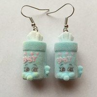 Shopkins Foodie Earrings - Baby Swipes - repurposed toys
