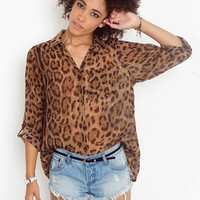 Wild Cat Blouse in  Clothes Tops at Nasty Gal