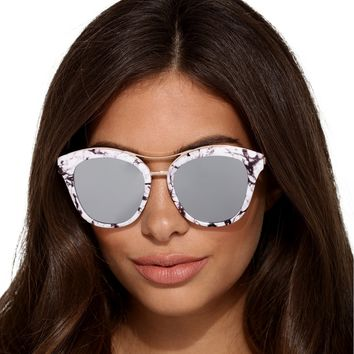 White Marble Frame Sunglasses