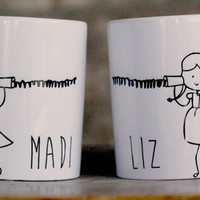 Best Friend Mugs, Long distance mother/daughter mug ,Far away Friend, Going Away Gift, Valentines day gift, personalized mugs