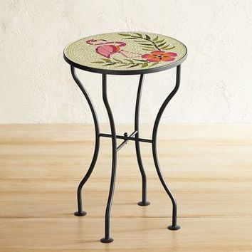 Flamingo Mosaic Accent Table