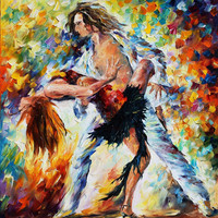 "Tango's Love — PALETTE KNIFE Figures Oil Painting On Canvas By Leonid Afremov - Size: 30"" x 36"" (75 cm x 90 cm) from afremov art"