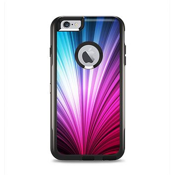 The Swirly HD Pink & Blue Lines Apple iPhone 6 Plus Otterbox Commuter Case Skin Set