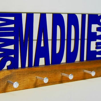 Personalized Swimming Medal Display