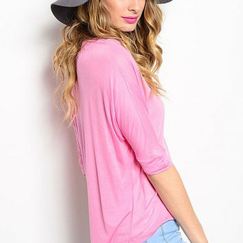 Pink Peony Stretch Top