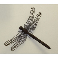 Dr. Livingstone I Presume DLWG149 Iron and Tole Brown Hanging Dragonfly
