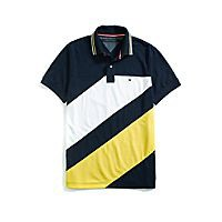 Custom Fit Pieced Polo | Tommy Hilfiger USA