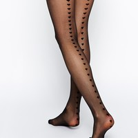 ASOS Heart Back Seam Tights With Control