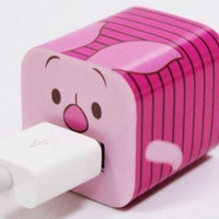 Disney Iphone Charger USB Skin Sticker Wrap -Sticker Only Not Include Charger (Piglet)