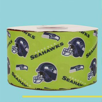 "3"" inch 75 mm 7.5cm The Seattle Seahawks free shipping printed grosgrain ribbons"