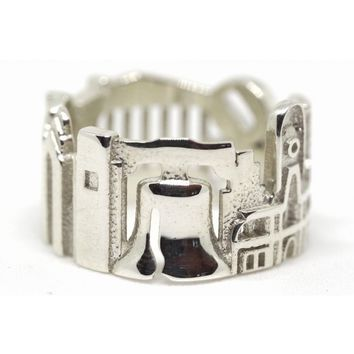 Philadelphia Cityscape Statement Ring