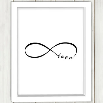 Infinity printable art, DIGITAL FILE, wall art, home decor,instant download