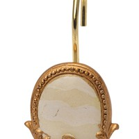 Newport Resin Shower Curtain Hooks in Gold