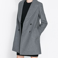 Long Sleeve Notched Collar Long Dust Coat
