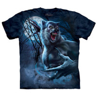 RIPPED WEREWOLF The Mountain Full Moon Scary Angry Wolf Horror T-Shirt S-3XL NEW