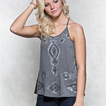 Sequin Lace Tank
