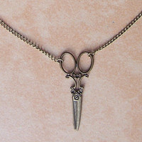 Necklace 066: Scissors Necklace, Charm Jewelry Personalized Gift