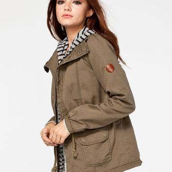 Roxy Wood Ridge Womens Jacket Olive  In Sizes