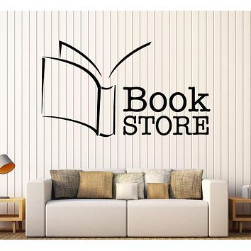 Wall Vinyl Decal Reading Room Library Bookstore Interior Decor Unique Gift z4655